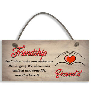 Friendship Plaques Gifts For Women Best Friend Christmas Thank You Birthday 1367