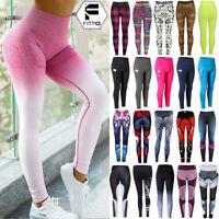 US Women High Waist Athletic Yoga Pants Print Pockets Leggings Fitness Sportwear