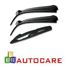 Front & Rear Wiper Blades Exact Fit For Vauxhall Corsa D