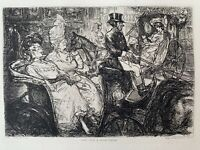 John Sloan Gravure Eau Forte Etching Une Rue A New York Fifth Avenue Manhattan