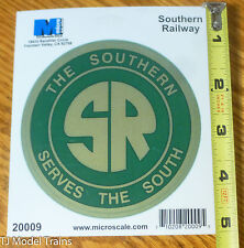 """Microscale Decal #20009 The Southern Servies The South 4"""" Die-Cut Vinyl Sticker"""