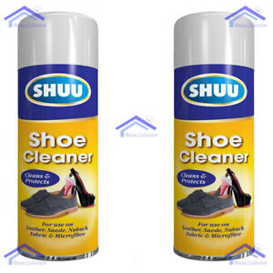 2X SHUU Shoe & Boot Cleaning Cleaner Spray Suede Leather Canvas Protector 300ml