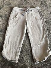 Ladies Grey 3/4 3 Quarter Adidas Training Pants Bottoms Size 8