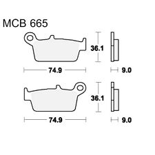 Scooter Brake Pads TRW MCB665Ec For Hercules SR 125 Samba 1994 - 1995
