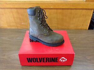 """Met Guard Safety Boots Wolverine #WO5680 8"""" US Sizes 7-14 (M & EW)"""