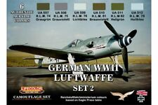LifeColor CS07 German WWII Luftwaffe Set 2 6x 22ml Acrylic Colours