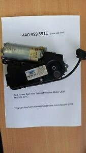 Audi 100 A6  Power Sun Roof Sunroof Window Motor OEM 4A0959591C *NEW*