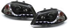 FARO LED Luz De Circulación Diurna óptica negro para SEAT IBIZA 6l 02-08 (Compat