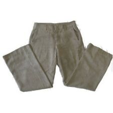Womens Patagonia Gray Hemp Blend Pants Size 8 Zip Cargo Hip Boot Leg B16