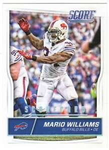 2016 Score Football Scorecard Parallel #40 Mario Williams Bills