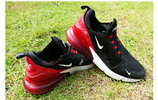 MENS USED BLACK NIKE AIRMAX 270 FLYKNIT BLACK/WHITE TRAINERS UK SIZE 11