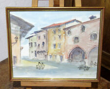 "Original Aquarell ""Motiv aus Udine"" signiert Josef Wurzer 1994"
