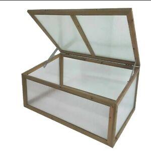 Garden vegetable  Wooden Framed Polycarbonate greenhouse/Cold Frame bargain
