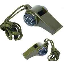Fashion 3 in1 Emergency Survival Gear Camping Hiking Whistle Compass Thermometer