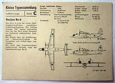 DDR Kleine Typensammlung Luftfahrzeuge - Berijew Be-6