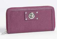 NWT MARC BY MARC JACOBS Turnlock Vertical Zippy Wallet Clutch Carmine Leather
