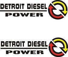 """2- DETROIT DIESEL POWER  VINYL DECALS 2 1/2"""" X 9"""" EACH"""