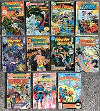 Lot of 11 Wonder Woman Super Friends D.C. COMICS 1978-1980 Bronze Age