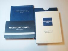 book and card and cover Raymond Weil International Guarantee Warranty watch
