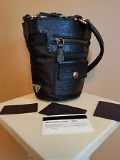 PRADA Black Leather & Nylon Handbag