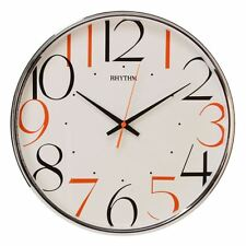 Rhythm Plastic Round with Coloured Numerals 32cm Wall Clock Bold Bright Fun