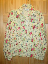 NICE JUNIORS WESTERN STYLE SNAP FRONT SHIRT LONG SLEEVED FLORAL PRINT SZ LARGE L