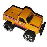 Vintage 1987 - Large REMCO Yellow 4x4 PickUp Truck On Call 24 Hours DieCast Toy