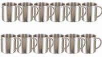 12X Iso-Becher 0,28L Edelstahl Tasse Thermobecher Isoliertasse Kaffeebecher
