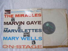 """ON STAGE The Miracles / Marvin Gaye / The Marvelettes / Mary Wells RECORD LP 12"""""""