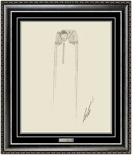ERTE Original Gouache Painting Hand Signed Authentic Art Deco Costume Design SBO