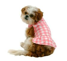 Pet Costume Checkered Dress Size Large Pink White New
