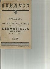 RENAULT NERVASTELLA GRAND SPORT ABM4 - PR 318 - 1936 / CATALOGUE PIECES