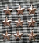 SET of 9   2 1 4  COPPER BARN STARS Metal Tin Primitive Rustic Country Ornament