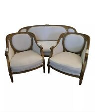 Louis Xvi Bergere Armchairs With Matching Setee