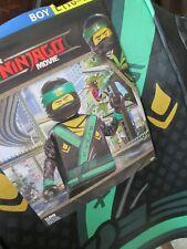 Boys Lego NINJAGO MOVIE LLOYD Costume L 10-12 NEW Minifigure Tunic Mask Hands