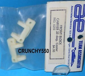 Associated 6215 Front Block Carrier WHITE 25 Degree RC10 RC10T NIP Vintage RC.
