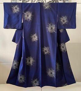 Kimono, Japanischer Kimono, Antik Kimono, Omeshi, Seide, 1920's ,Blau