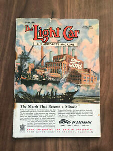 The Light Car Magazine June 1948 Ford dagenham Front Cover