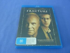Fracture Blu-Ray Anthony Hopkins Ryan Gosling Free Tracked Postage