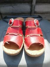 LADIES LOVELY JOSEF SEIBEL RED PATENT SANDALS SIZE 5