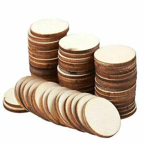 60pcs Natural Wood Slices Round Disc Tree Bark Log Wooden Circles for DIY Craft