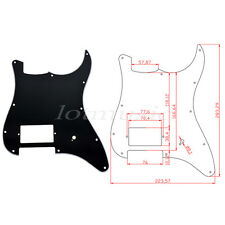 Pickguard With One Humbucker Black for Electric Guitar Fender Strat Stratocaster