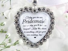 Bridesmaid Bouquet Charm In Sparkling Diamantés Wedding Gift Accessories