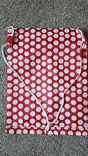 Drawstring Bag Gymsac Shopping Sport Gym Swim PE Dance Shoe Polka Dot