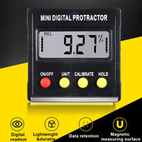 Digital LCD Protractor Gauge Level Box Angle Finder Inclinometer Magnet Meter