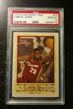 2004-05 Fleer Sweet Sigs 75 Lebron James Cleveland Cavaliers PSA 10 FRESH GRADE