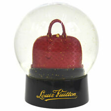 Authentic LOUIS VUITTON Snow Globe Dome Object Alma Novelty Red Glass AK28818