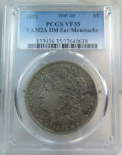 1891 Morgan dollar PCGS VF35 *VAM 2a moustache TOP100*