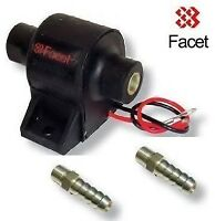 Facet Posi-Flow Fuel Pump 1.5- 4psi with 2x 8mm unions Carburettor Carb Weber