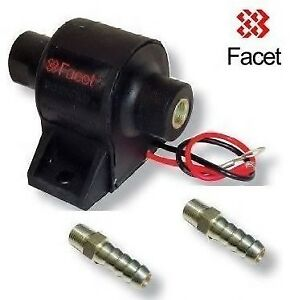 Facet Posi-Flow Fuel Pump 1.5- 4psi with 2x 8mm unions Carburettor Carb Weber